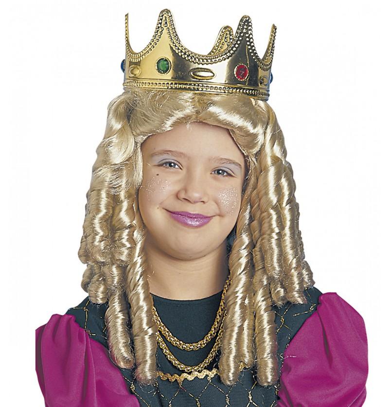 Peluca de princesa con rizos para mujer