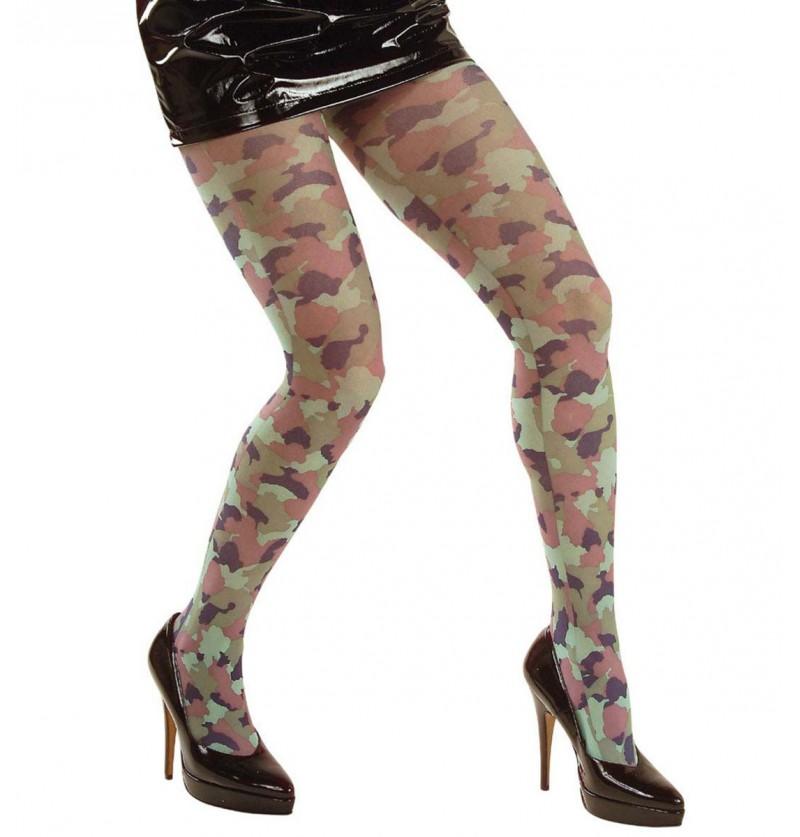 Medias de camuflaje militar para mujer