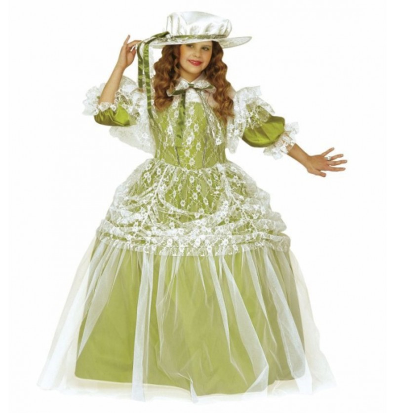 Disfraz de noble dama para niña