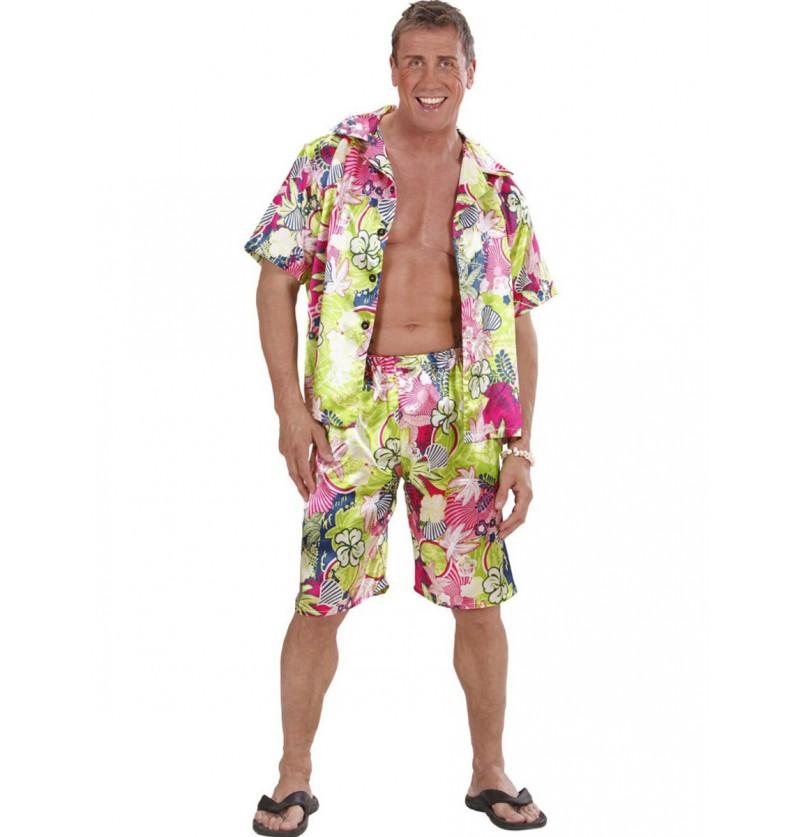 Disfraz de hawaiano feliz para talla grande