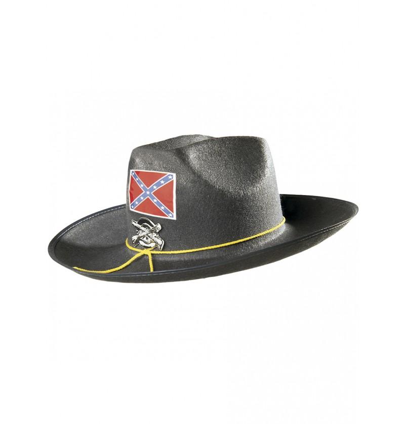Sombrero de confederado americano para hombre