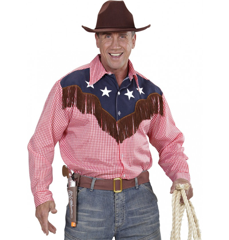 Camisa de vaquero de rodeo para hombre