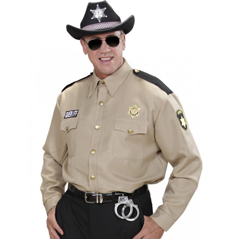 Camisa de sheriff para hombre talla grande