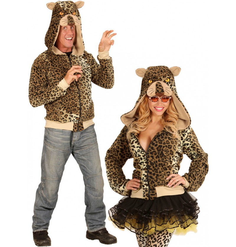 Sudadera de leopardo amigable para adulto
