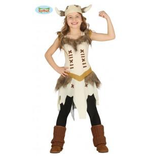 disfraz de vikinga valiente para nia