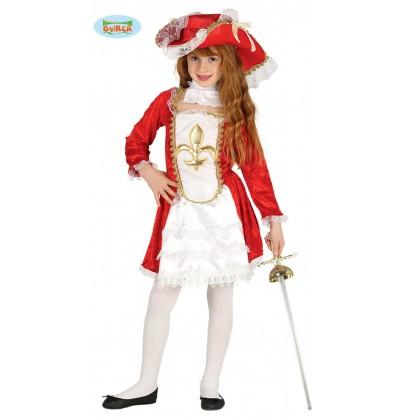 disfraz de mosquetera roja para nia