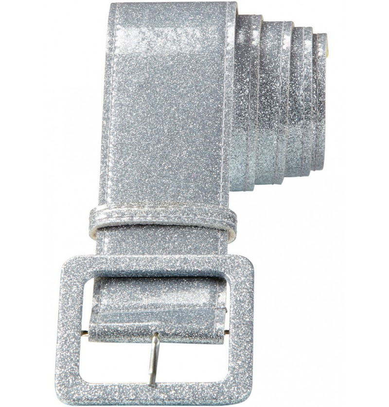 Cinturón disco plateado para adulto