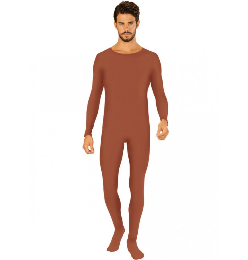 Body marrón para adulto talla grande