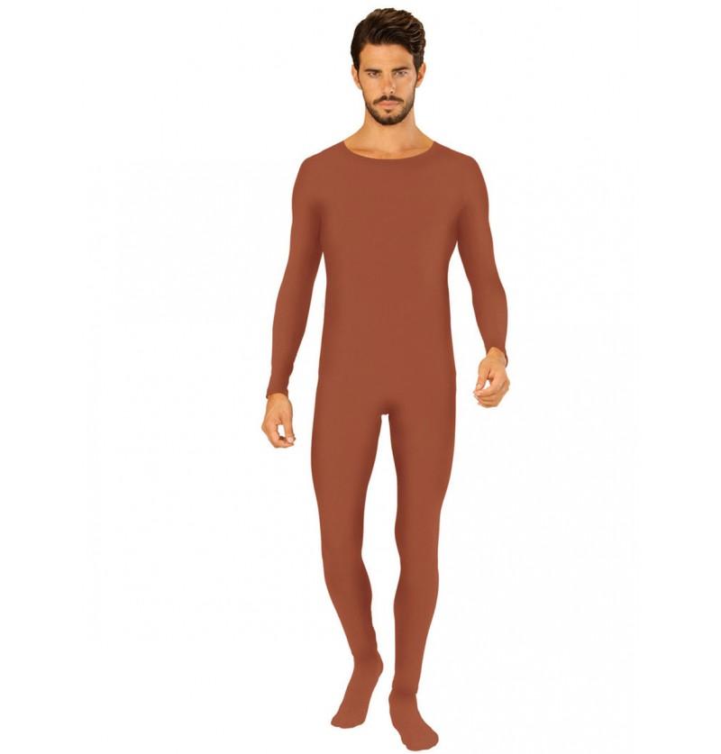 Body marrón para adulto