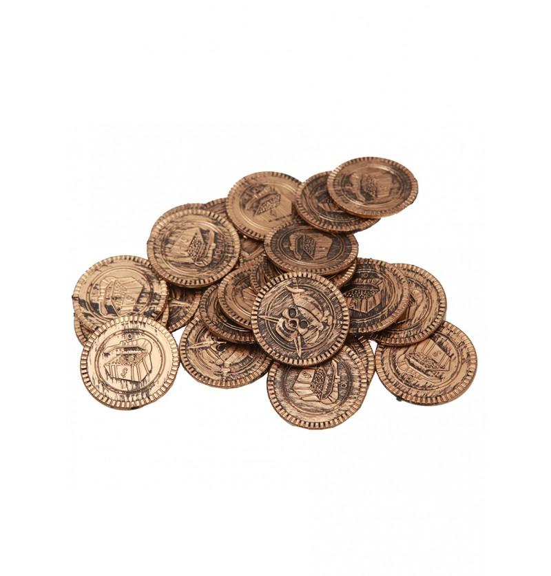 Monedas del botín pirata