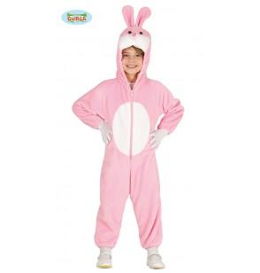 disfraz de conejito rosa adorable infantil