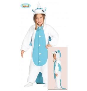 disfraz de unicornio azul onesie infantil