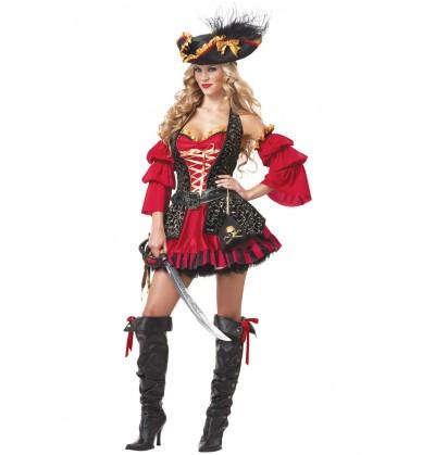 Disfraz de corsaria intrépida para mujer