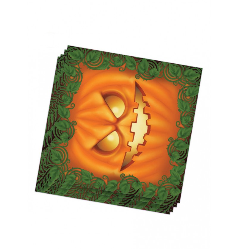 Set de 20 servilletas calabaza Halloween