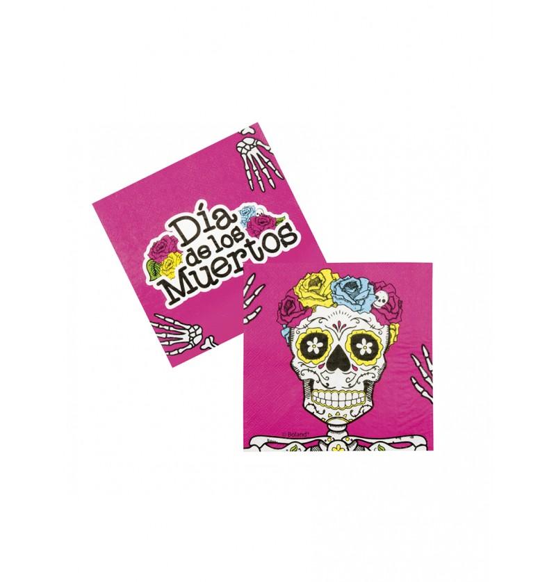 Set de 12 servilletas Muerte Mexicana