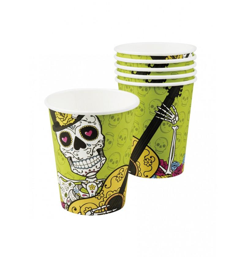 Set de 6 vasos Muerte Mexicana