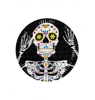 Set de 6 platos de Muerte Mexicana