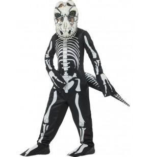 disfraz de esqueleto de tiranosaurio rex infantil