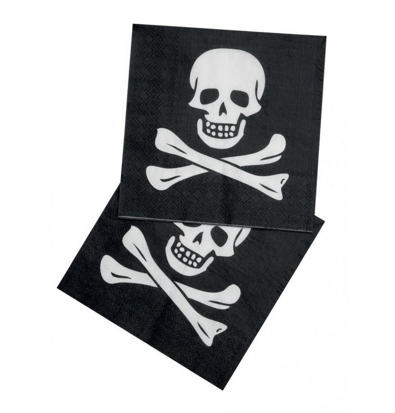 Set de 12 servilletas piratas