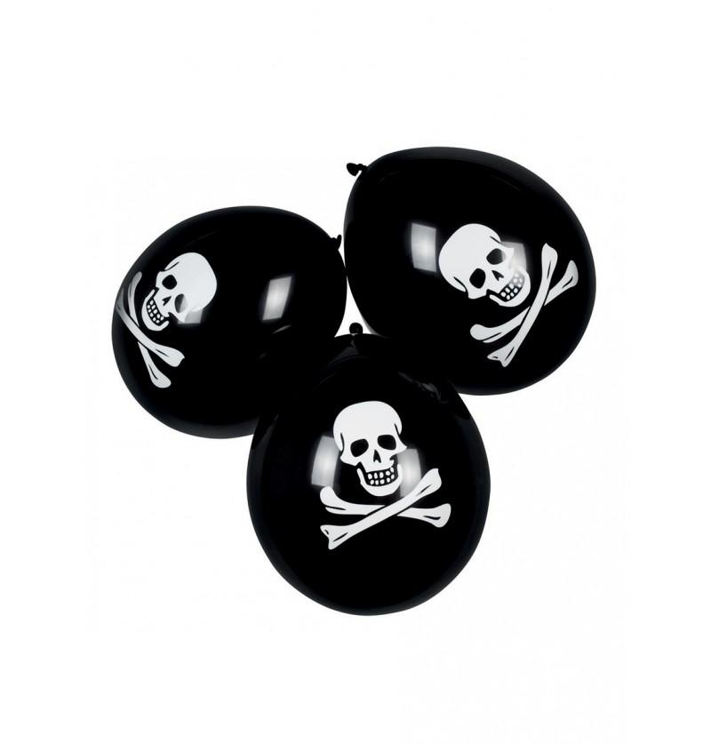 Set de 6 globos piratas