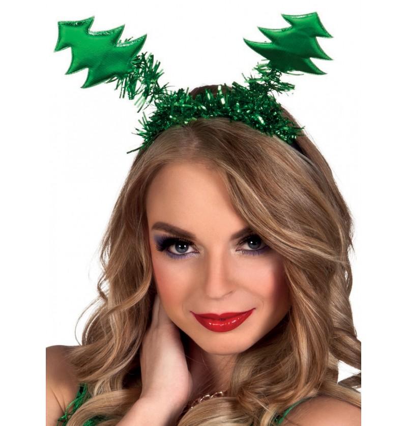 Diadema de árbol navideño para mujer