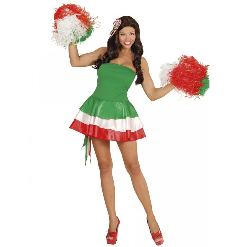 Vestido animadora de Italia para mujer