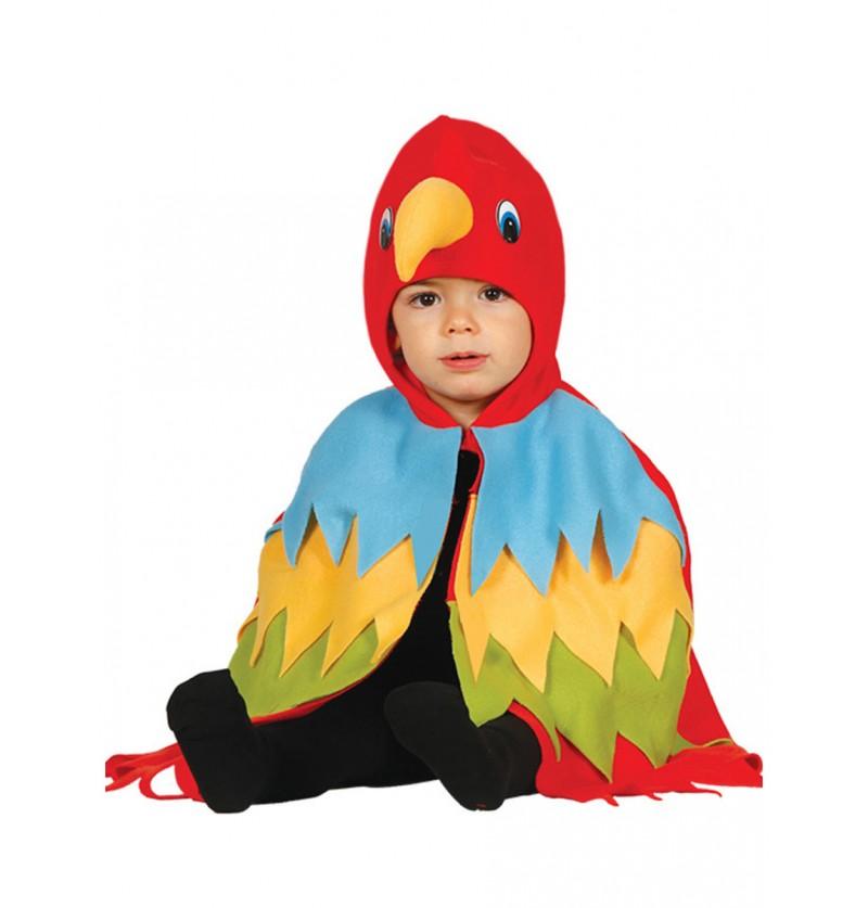 Disfraz de lorito rojo para bebé