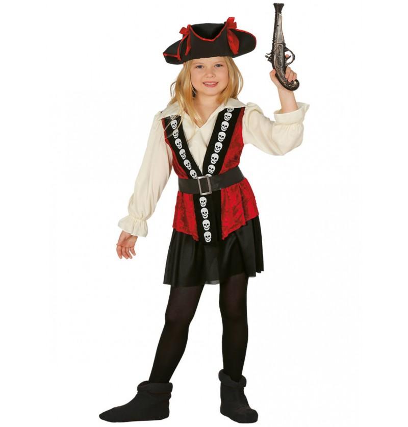 Disfraz de corsario para niña