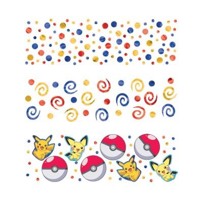 confeti de pikachu pokemon
