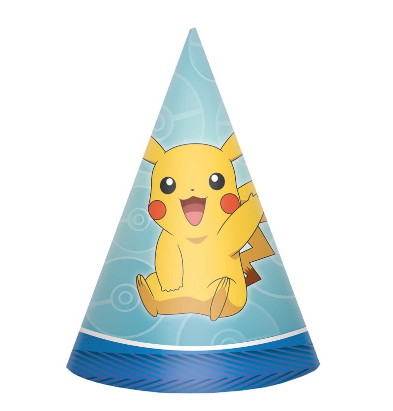 set de 8 gorritos de pikachu pokemon