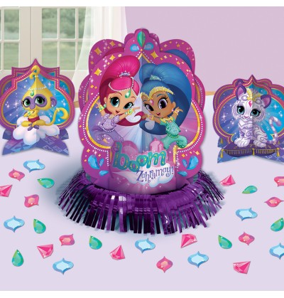 set de decoracin para mesa de shimmer y shine