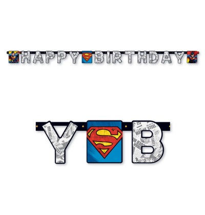 guirlanda happy birthday de superman
