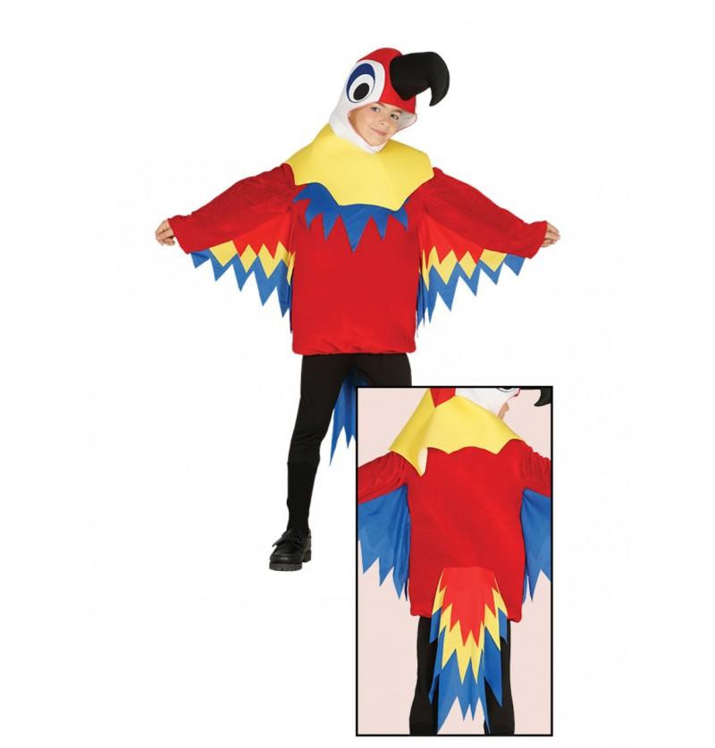Disfraz de lorito rojo para niño