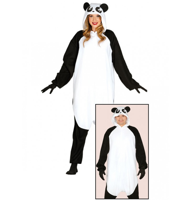 Disfraz de oso panda perezoso onesie para adulto
