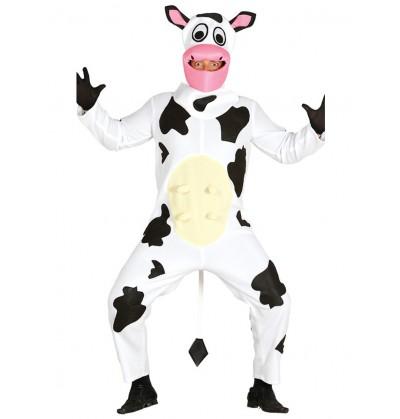 Disfraz de vaca lechera para adulto