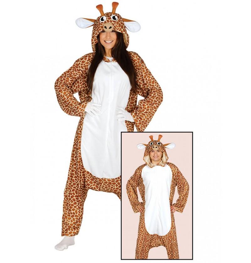 Disfraz de jirafa onesie para mujer