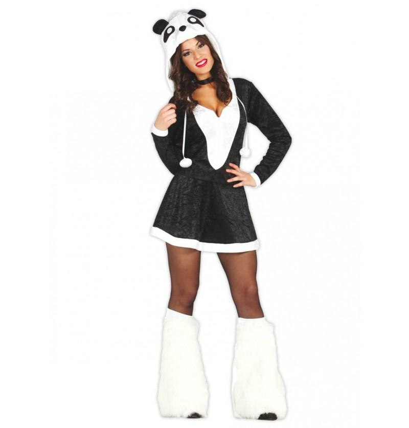 Disfraz de osita panda sexy para mujer