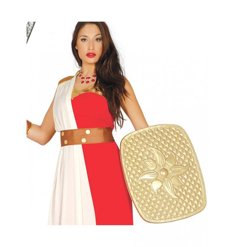 Escudo romano dorado para adulto