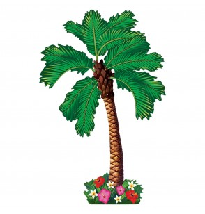 figura decorativa para pared palmera hawai