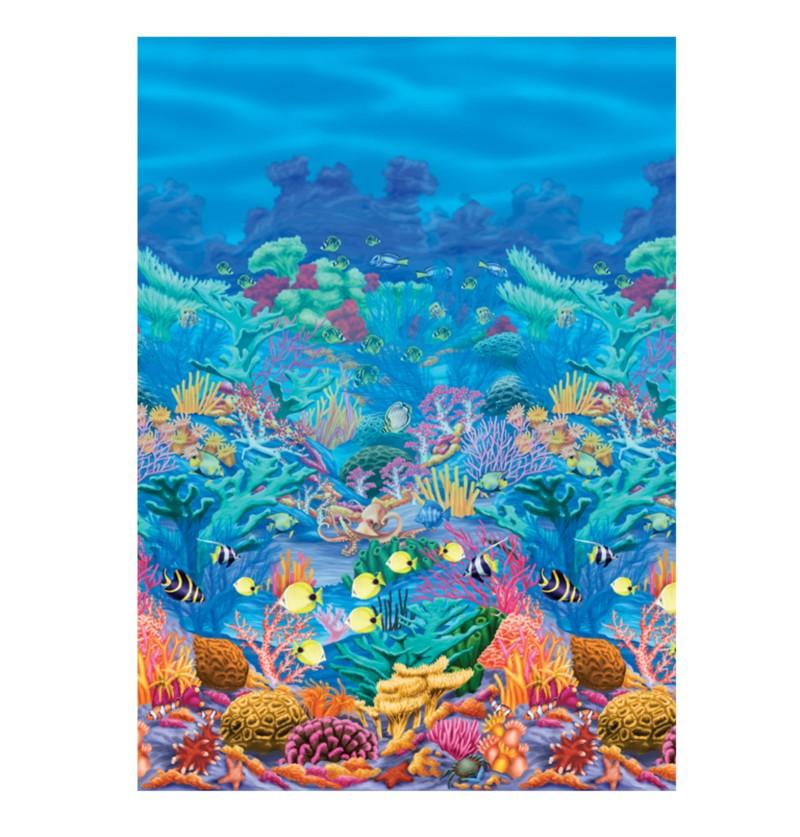 rollo para pared decorativo hawai fondo marino coral
