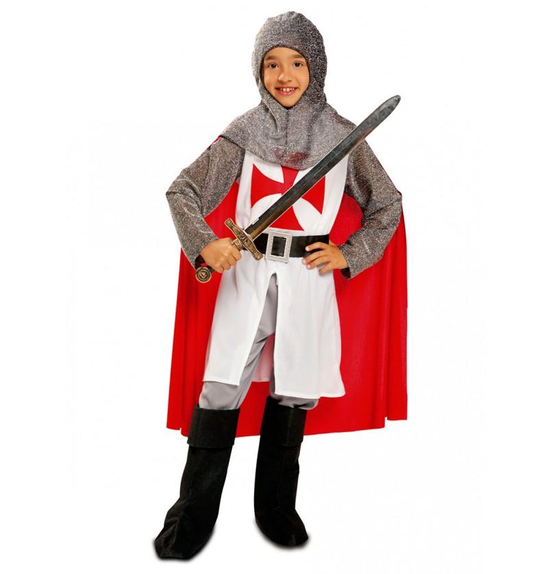 Disfraz de templario guerrero para niño