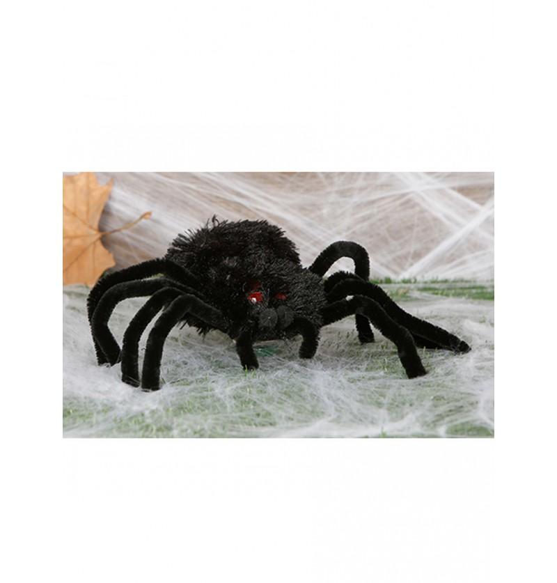 Figura decorativa araña peluda 28 cm