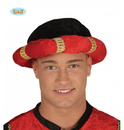 turbante de paje rojo para adulto