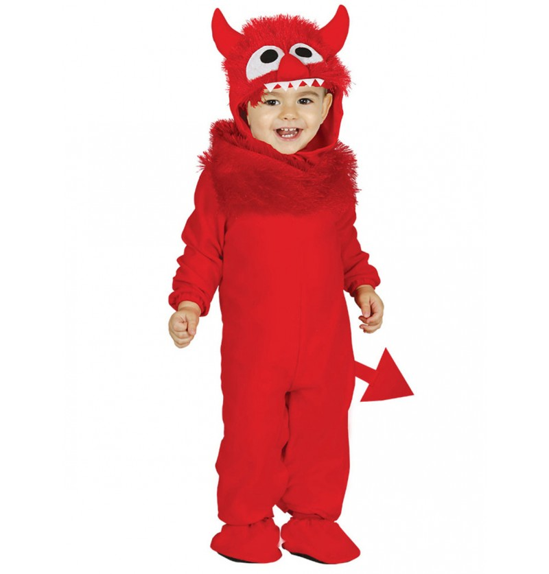 Disfraz de monstruo rojo para bebé