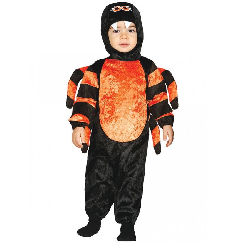 Disfraz de araña venenosa para bebé