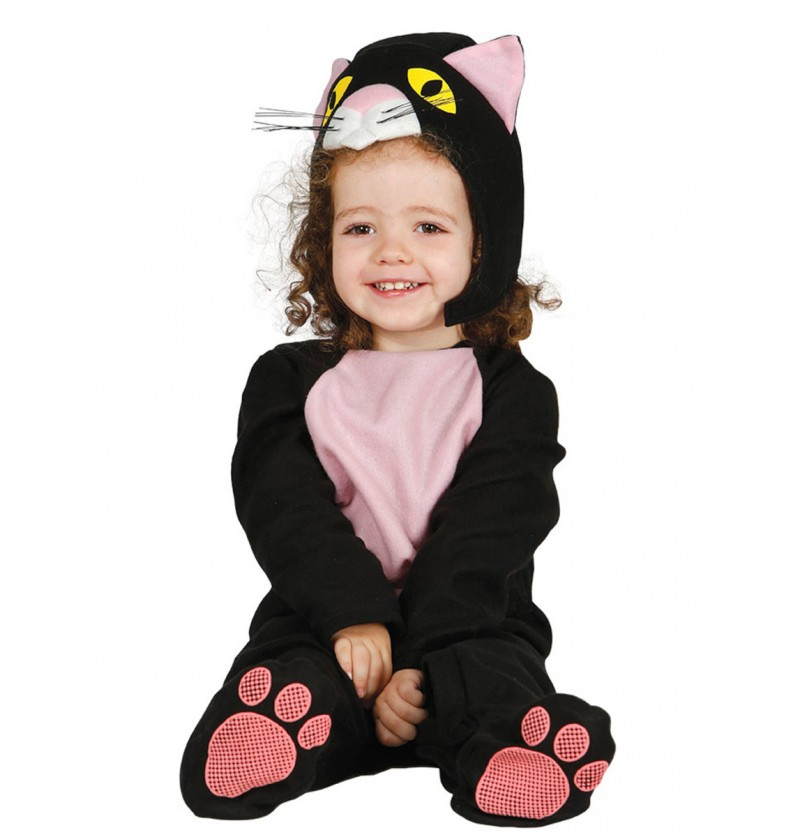 Disfraz de gato negro para bebé