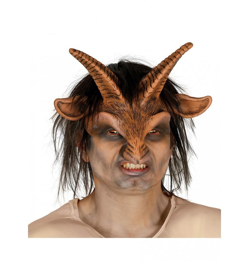 Máscara de fauno con pelo para adulto