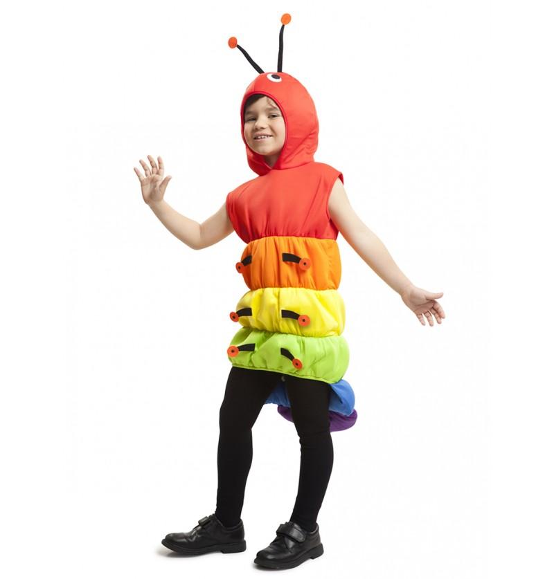 Disfraz de ciempiés multicolor para niño