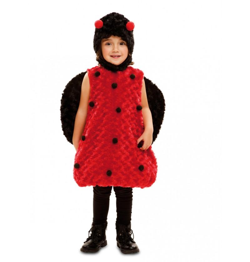 Disfraz de mariquita adorable de peluche para niña