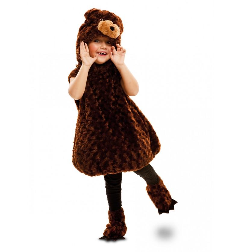Disfraz de oso pardo de peluche infantil